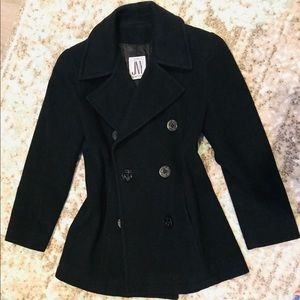 Jones New York black double breasted Peacoat
